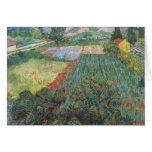 Van Gogh - campo con las amapolas (1889) Tarjeta Pequeña