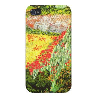 Van Gogh Campo con las amapolas iPhone 4/4S Funda