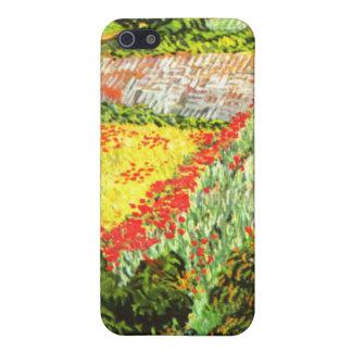 Van Gogh Campo con las amapolas iPhone 5 Cárcasas