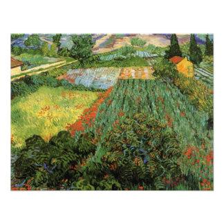Van Gogh; Campo con las amapolas, paisaje del vint Comunicados