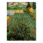 Van Gogh; Campo con las amapolas, paisaje del vint Postales