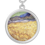 Van Gogh - campo de trigo con el segador Colgante Personalizado