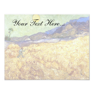 """Van Gogh - campo de trigo con el segador Invitación 4.25"""" X 5.5"""""""