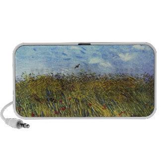 Van Gogh: Campo de trigo con las amapolas y la alo iPhone Altavoz