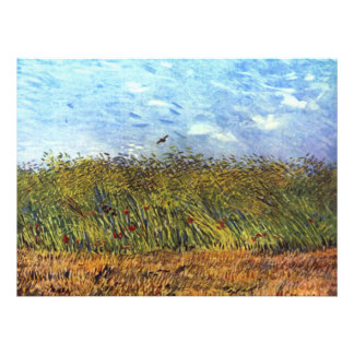 Van Gogh: Campo de trigo con las amapolas y la alo Comunicados Personalizados