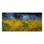 Van Gogh - campo de trigo con los cuervos (1890) Poster