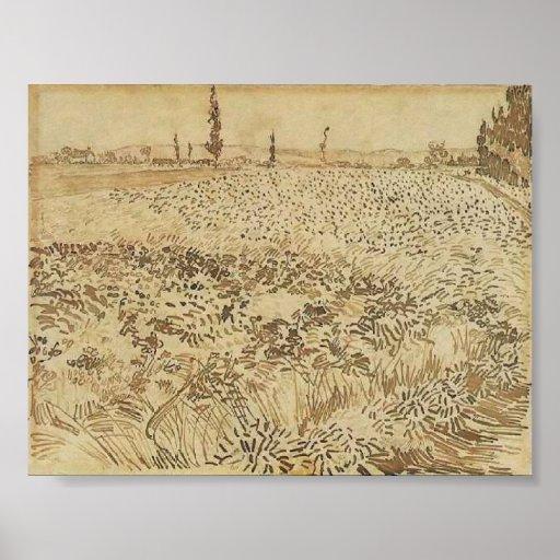 Van Gogh - campo de trigo Posters