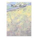 Van Gogh - campo del trigo de primavera en la Invitación 12,7 X 17,8 Cm