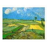 Van Gogh; Campos de trigo en Auvers debajo del Postales