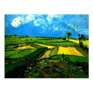 Van Gogh - campos de trigo en Auvers Postal