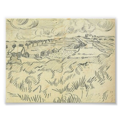 Van Gogh - campos de trigo Impresiones