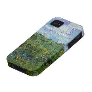 Van Gogh Campos de trigo verdes paisaje del vint Vibe iPhone 4 Carcasa