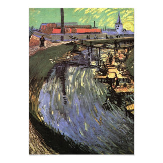Van Gogh Canal with Women Washing Card