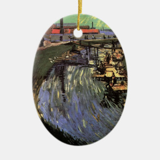 Van Gogh; Canal with Women Washing Christmas Ornament