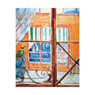 Van Gogh - carnicería vista de una ventana Lona Estirada Galerias