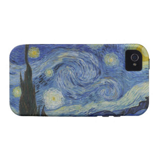 Van Gogh - caso del iPhone 4/4s de la noche estrel Vibe iPhone 4 Fundas