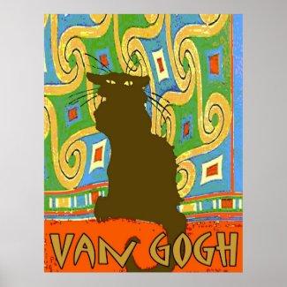 Van Gogh Cat print