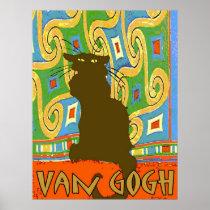Van Gogh Cat posters