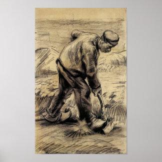 Van Gogh - cavador Impresiones