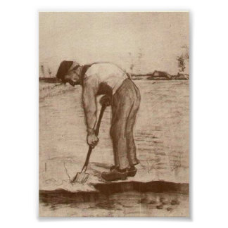 Van Gogh - cavador Poster