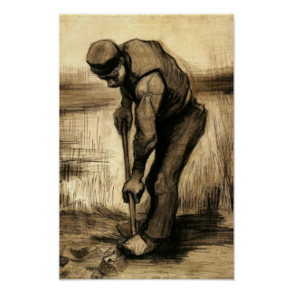 Van Gogh - cavador Posters