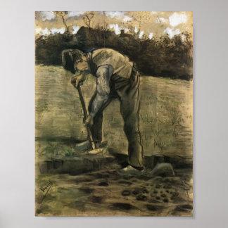 Van Gogh - cavador Póster