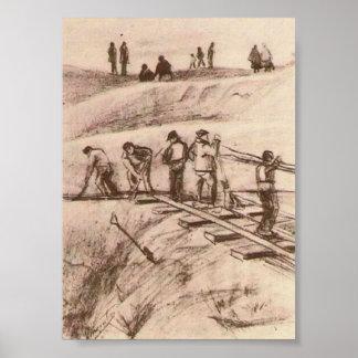 Van Gogh - cavadores de la arena Impresiones