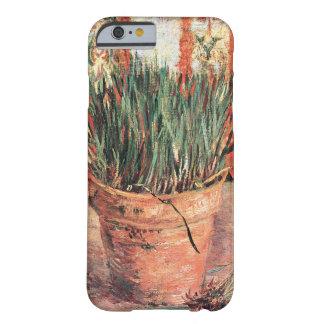 Van Gogh, cebolletas de la maceta, impresionismo Funda De iPhone 6 Barely There
