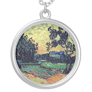 Van Gogh - Chateau Of Auvers At Sunset Custom Jewelry
