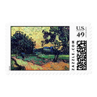 Van Gogh - Chateau Of Auvers At Sunset Postage