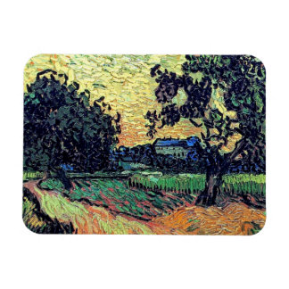 Van Gogh - Chateau Of Auvers At Sunset Vinyl Magnets