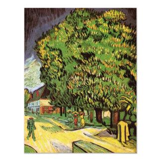 Van Gogh Chestnut Trees in Blossom, Vintage Art Announcement