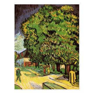 Van Gogh; Chestnut Trees in Blossom, Vintage Art Post Card