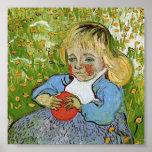 Van Gogh Child with Orange Poster
