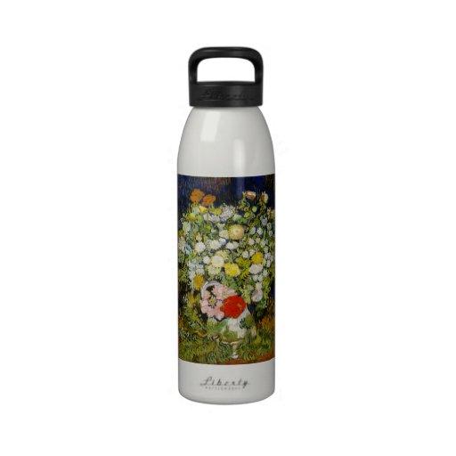 Van Gogh Chrysanthemums, Wild Flowers Still Life Reusable Water Bottles