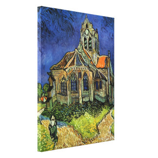 Van Gogh Church at Auvers Gallery Wrap Canvas
