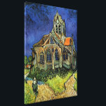 "Van Gogh Church at Auvers, Vintage Architecture Canvas Print<br><div class=""desc"">Church at Auvers by Vincent van Gogh is a vintage fine art post impressionism architectural painting. An exterior view of a church with stained glass windows and a figure walking towards the Chapel along a cobblestone path. About the artist: Vincent Willem van Gogh (1853 -1890) was one of the most...</div>"