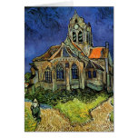 Van Gogh Church at Auvers, Vintage Architecture Greeting Card