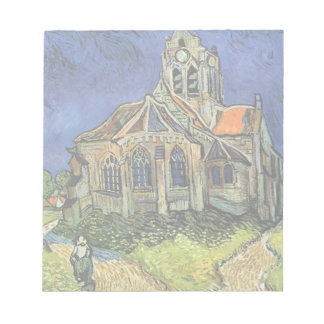 Van Gogh Church at Auvers, Vintage Architecture Note Pad