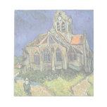 Van Gogh Church at Auvers, Vintage Architecture Memo Pads