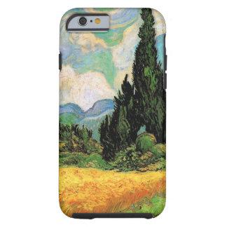 Van Gogh; Cipreses del campo de trigo w en Haute Funda De iPhone 6 Tough