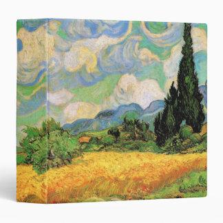 Van Gogh; Cipreses del campo de trigo w en Haute G