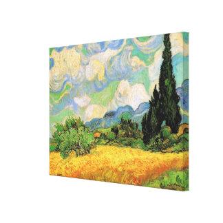 Van Gogh Cipreses del campo de trigo w en Haute G Lona Estirada Galerias