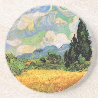 Van Gogh Cipreses del campo de trigo w en Haute G Posavaso Para Bebida