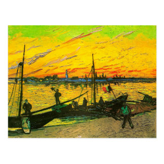 Van Gogh Coal Barges (F437) Post Card