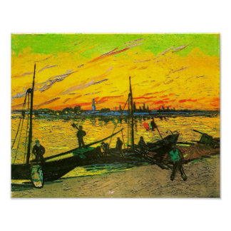 Van Gogh Coal Barges (F437) Poster