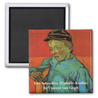 Van Gogh, colegial (Camilo Roulin), arte del Imán Cuadrado