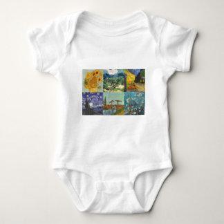 Van Gogh Collage Baby Bodysuit