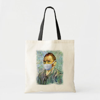 Van Gogh con la máscara Bolsa Tela Barata