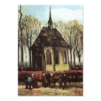Van Gogh Congregation Leaving the Reformed Church Card